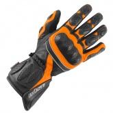 Rękawice motocyklowe BUSE Pit Lane czarno-pomarańczowe