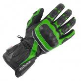 Rękawice motocyklowe BUSE Pit Lane czarno-zielone