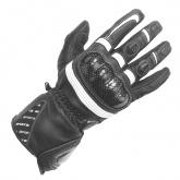 Rękawice motocyklowe damskie BUSE Misano czarno-białe