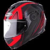 Kask motocyklowy ROCC 881 czarno-czerwony XS