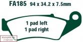 Klocki hamulcowe EBC EPFA185HH Extreme Pro (kpl. na 1 tarcze)