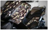 PRINT zestaw naklejek motocyklowych do Yamaha TMAX from 2012 to 2014 mimetic zielone fluo