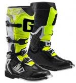 Buty motocyklowe GAERNE G-REACT GOODYEAR biało-czarno-żółte 48