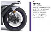 PRINT naklejka na felgi 6mt x 7mm violet