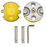 AUVRAY zestaw kotwa podłogowa podwójna (średnica pałąków 14mm) + 1x łańcuch XTREM PROTECT z ogniwem