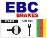 Klocki rowerowe EBC (organiczne wyczynowe) Avid BB5 CFA439R