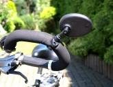 Lusterko rowerowe AJS uniwersalne na kierownicę czarne