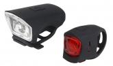 Lampki rowerowe komplet p+t Just One VISION 2.0 SET