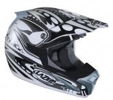 Kask motocyklowy LAZER SMX Bionic biały/szary