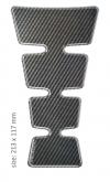PRINT tankpad  universal GOLD shape carbon