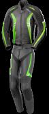 Kombinezon motocyklowy BUSE Jerez czarno-biało-zielony