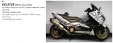 PRINT zestaw naklejek motocyklowych do tmax from 2012 to 2014 mimetic białe