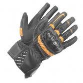 Rękawice motocyklowe BUSE Misano czarno-pomarańczowe