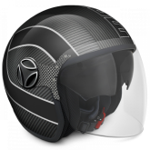 Kask Motocyklowy MOMO ARROW Carbon / Grey Outline