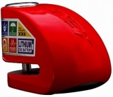 Blokada na tarczę z alarmem i bluetooth XX6 czerwona - bolec 6 mm