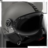 Kask Motocyklowy MOMO FGTR EVO Titanium Frost / Czarny