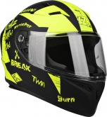 Kask Motocyklowy LAZER FH4 Jr Bad Boy kol. czarny/żółty fluo/matowy rozm. XS