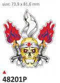Naklejka PRINT Flame Skull (2 szt.)