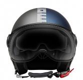 Kask Motocyklowy MOMO FGTR EVO (JOKER Blue / Clear Grey/ Silver) rozm. S