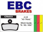Klocki rowerowe EBC (organiczne wyczynowe) Avid XO Trail CFA633R