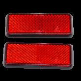 Reflektor prostokątny czerwony (para)