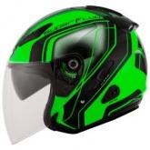 Kask motocyklowy KYT HELLCAT SUPERFLUO zielony