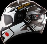 Kask motocyklowy KYT FALCON REPLICA Espargaro szary