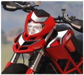 Naklejka na czachę PRINT Kit Spirit Hypermotard 2007/2012