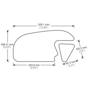 PRINT stompgrip HDR CBR600RR Honda 2013/2017 czarny