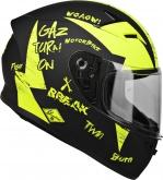 Kask Motocyklowy LAZER FH4 Jr Bad Boy (kol. Czarny - Żółty Fluo - Matowy) rozm. 2XS