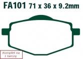Klocki hamulcowe EBC SFA101HH skuterowe (kpl. na 1 tarcze)