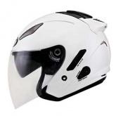Kask motocyklowy KYT HELLCAT perłowy/biały