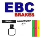 Klocki rowerowe EBC (spiekane) Magura MT5/MT7 CFA660/4HH