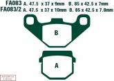 Klocki hamulcowe EBC SFA083/2HH skuterowe (kpl. na 1 tarcze)