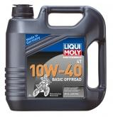LIQUI MOLY Olej silnikowy mineralny do motocykli 10W40 Basic Offroad 4 litry