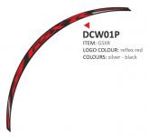 Naklejka na felgę PRINT GSXR czerwony (8 szt.)