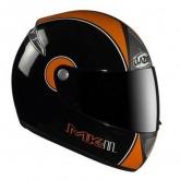 Kask motocyklowy LAZER FIBER D1 MKII czarny/pomarańczowy
