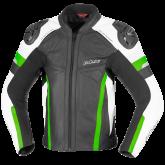 Kurtka motocyklowa skórzana BUSE Monza czarno-zielony 58