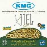 Łańcuch rowerowy KMC X11el 114 ogniw 11 biegów złoty