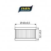 Filtr Oleju ISON 136 (HF136)