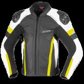 Kurtka motocyklowa skórzana BUSE Monza czarno-żółty 50