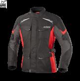 Kurtka motocyklowa BUSE Lago II czarno-czerwona