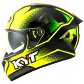 Kask motocyklowy KYT NF-R HYPER żółty fluo