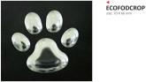 Naklejka 3D PRINT Footprint srebrna