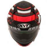 Kask motocyklowy KYT NF-R ENERGY czerwony/antracytowy matowy