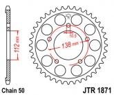Zębatka napędowa tylna JTR1871.52 - 52 zębów
