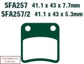 Klocki hamulcowe EBC SFA257 skuterowe (kpl. na 1 tarczę)