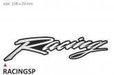 PRINT zestaw 10 naklejek Racing srebrne