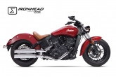 Tłumik IXIL INDIAN SCOUT  BOBBER 15-19 typ HC1-2C (SLIP ON, UPPER MUFFLER)
