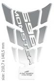 PRINT tankpad SLIM Ducati 696 Ducati Monster srebrny/przeźroczysty/biały